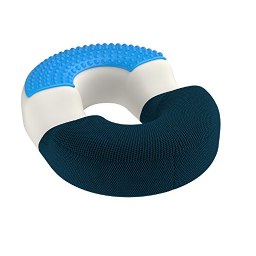 The Bonmedico (Large) Orthopedic Hemorrhoid Pillow, Recommended Above A Weight Of 175 lb (Blue)