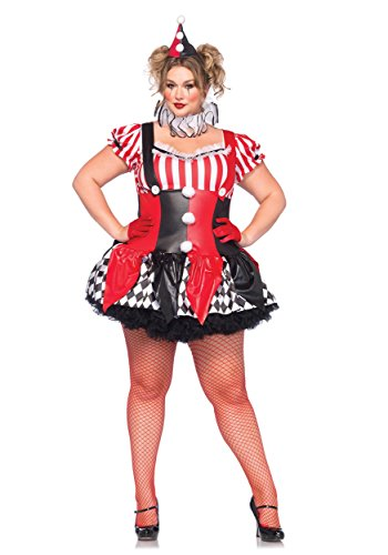 Plus Size Harlequin Clown Costume - (Harlequin Plus Size Costumes)