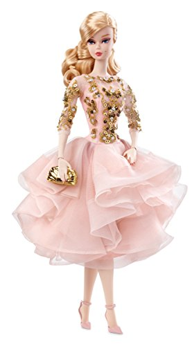 - Barbie  Fashion Model Collection, Blush & Gold Cocktail Dress