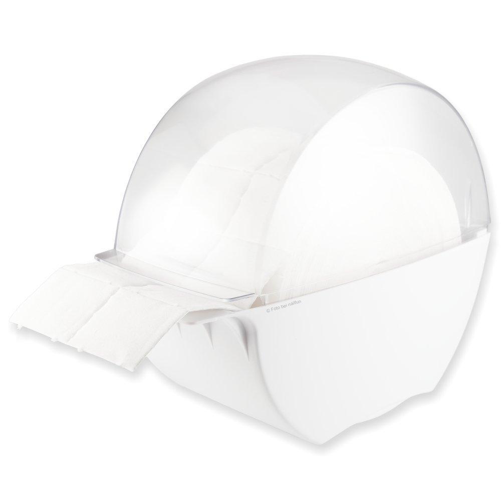 Designer zeletten Box bianco/trasparente imbottito con 1rotolo di tamponcini in (= Confezione da 500) NAILFUN ®
