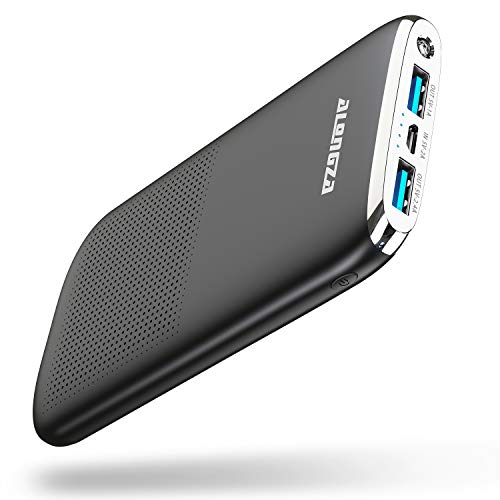 Alongza Portable Phone Charger,5000mAh External Battery Power Pack 0.22lb Pocket Size Ultra Slim USB Cell Phone Power…