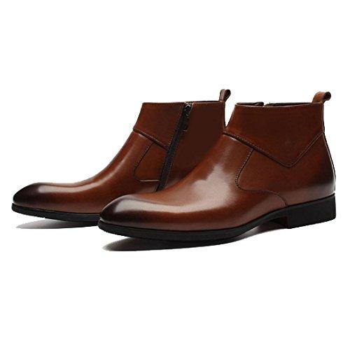 Trend Alte Resistenti alla Brown Impermeabili Stivali Business Scarpe Comfort Moda all'Usura Antiscivolo qw1qr5