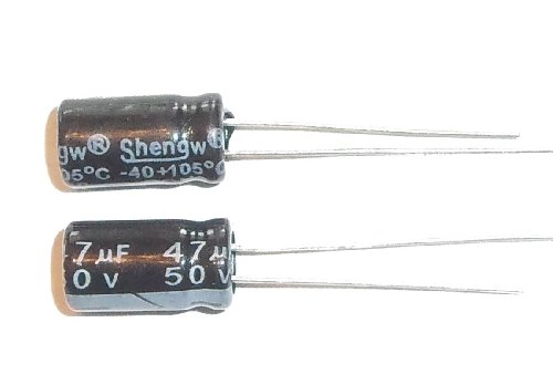 E-Projects B-0002-D08 Radial Electrolytic Capacitor, 47uF, 50V, 105 C (Pack of 5) 47uf Radial Electrolytic Capacitor