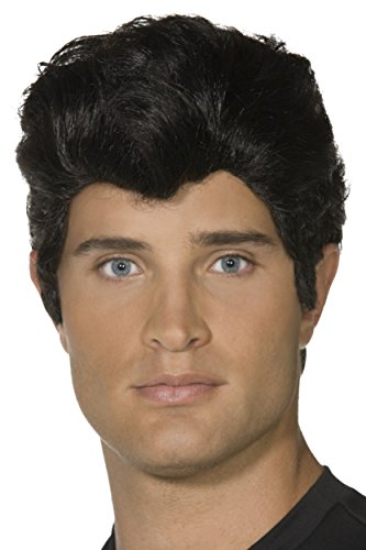 Smiffy's Danny Wig - Black (Grease Wig)
