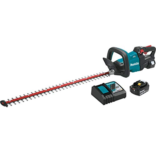 Makita XHU08T 18V LXT Lithium-Ion Cordless (5.0Ah) Brushless 30″ Hedge Trimmer Kit, Inch, Teal