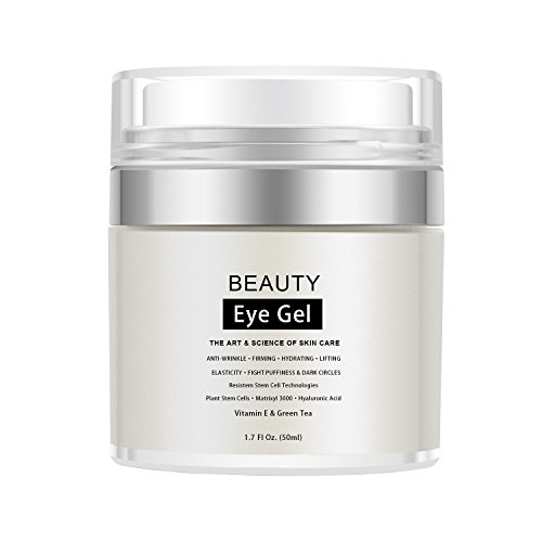 Eye Gel Eye Moisturizer Cream for Dark Circles, Puffiness, Wrinkles and Eye Bags, Fine Lines Under and Around Eyes, 1.7 fl. Oz.