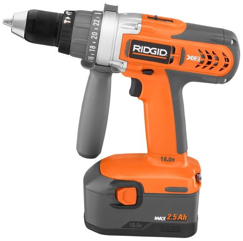 Factory-Reconditioned RIDGID ZRR8411503 X2 18-Volt Cordless 1 2-Inch Hammer Drill