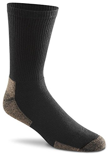 Fox River Cotton Work Crew Cut Socks Value Pack (3 Pair), Medium, Black (Fox River Wick Dry Classic Crew Socks)