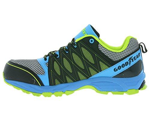 Goodyear GYSHU1503 - Zapatillas de seguridad para hombre Mehrfarbig (Schwarz/Blau/Grün)