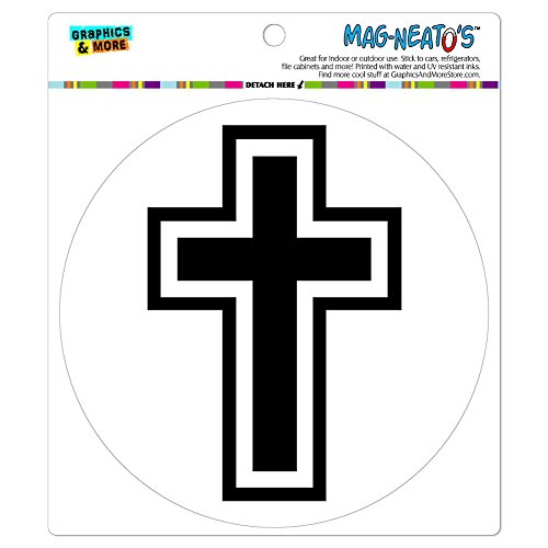 Graphics and More Cross Christian Religious Automotive Car Refrigerator Locker Vinyl Magnet (Cross Magnet Car)