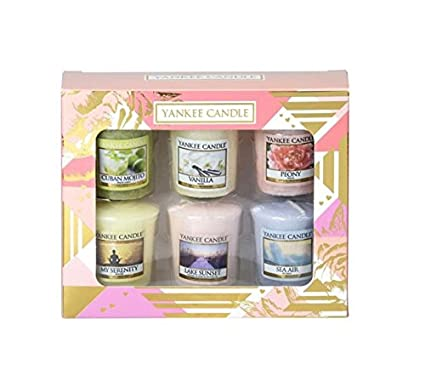 Yankee Candle Gift Set Of 6 Votives 1 X My Serenity Vanilla