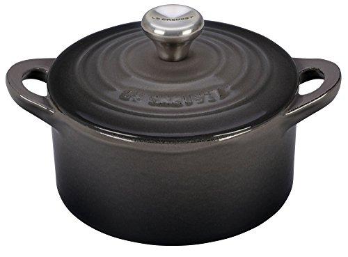 (Le Creuset Enameled Cast-Iron Mini Cocotte, 1/3-Quart, Oyster)