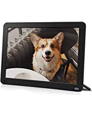 IEBRT Digital Picture Frame with 1920x1080 IPS Screen, Digital Photo Frame Support Adjustable Brightness Photo Frames 1080P Video Music Remote 16:9 Widescreen (8 inch)