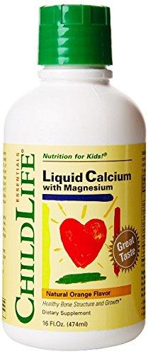 Child Life Liquid Calcium/Magnesium,Natural Orange Flavor Plastic Bottle, 16-Fl. Oz. (2 Bottles) (Balanced Calcium)