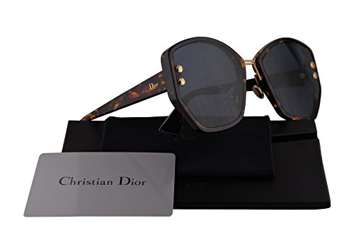 Christian Dior DiorAddict 2 Sunglasses Brown Yellow Havana w/Blue Mirror Gold Gradient Lens 59mm P65A9 DiorAddict2S DiorAddict2/S Dior Addict 2S Dior Addict 2/S Dior Addict 2 (Dior Sunglasses Brown Lens)