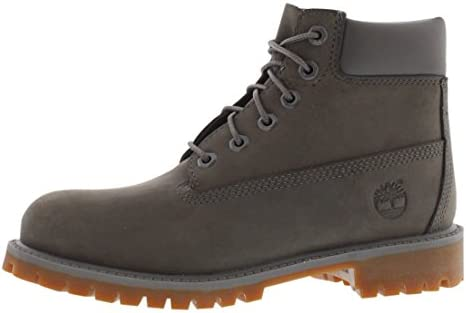 Timberland Kid/'s 6 inch Premium Boots TB0A11CR Gray Brand New