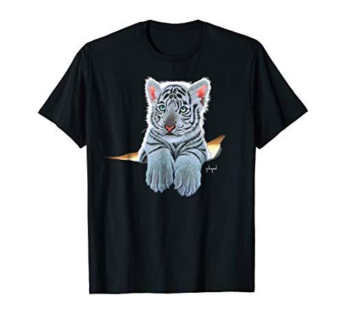 (Schim Schimmel original artwork, white tiger cub T-shirt)