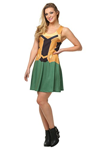 Her Universe womens Marvel Loki A-Line Dress Small
