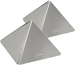 Ateco 4937 Stainless Steel Large Pyramid Mold, Set of 2, 4.75 by 3.25-Inches High