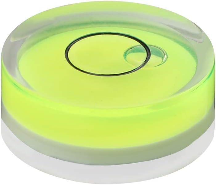 Level Bubble herramienta de medici/ón 18 mm Inclin/ómetro de nivel de espiral