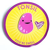 Tonsil Lapel Pin You're Sweet I Heart Guts