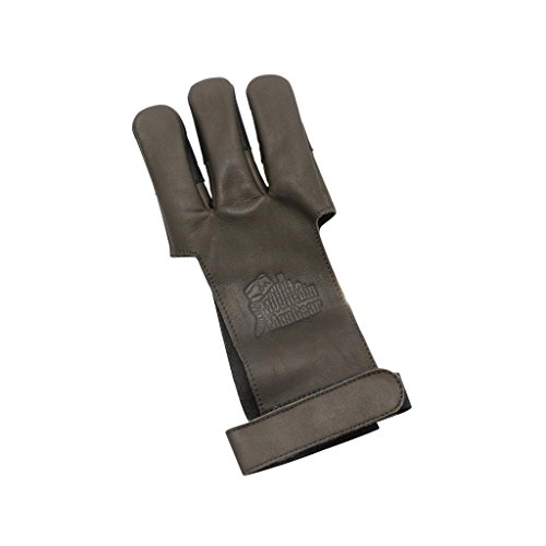 Mountain Man Leather Shooting Glove - Brown X Small Brown