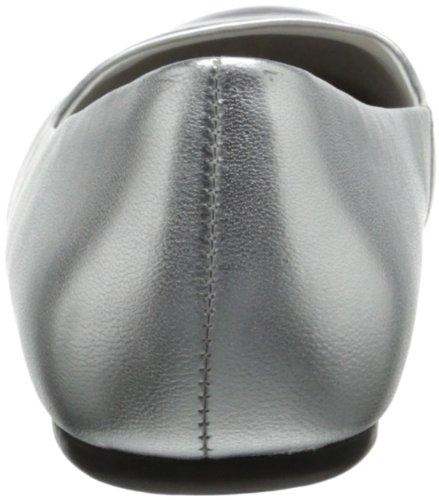Softwalk Damen Napa Ballet Flat Silber schwarz