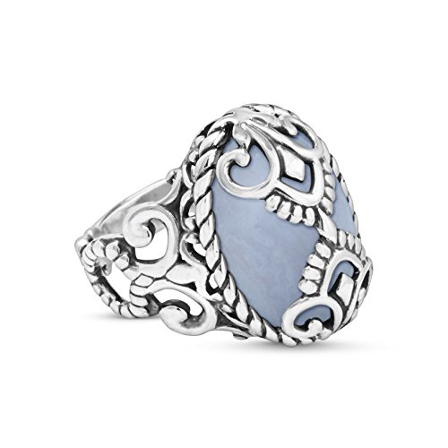 Agate Blue Agate Ring (Crowning Accents Blue Lace Agate Bold Ring)
