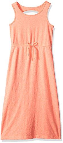 - Crazy 8 Big Girls' Knit Maxi Dress, Neon Salmon, M