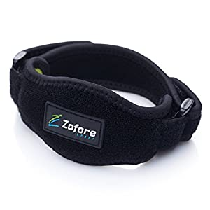 Zofore Tennis Elbow Brace With Compression Pad (2-Count) by Effective Pain Relief for Tennis & Golfer's Elbow for Men & Women