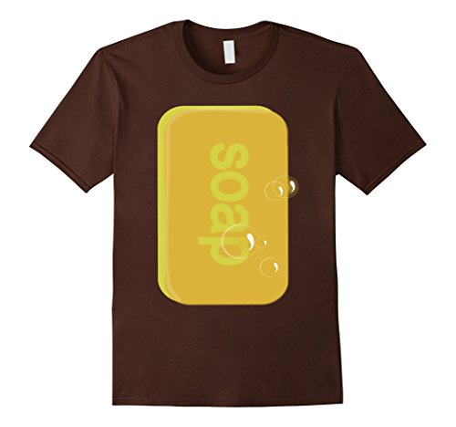 Men's Soap bar   last minute funny Halloween costume tshirt XL Brown -