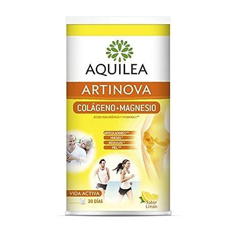 AQUILEA - URIACH AQUILEA Artinova Colágeno+Magnesio con Ácido Hialurónico y Vitamina C Sabor Limón 375 g: Amazon.es: Salud y cuidado personal