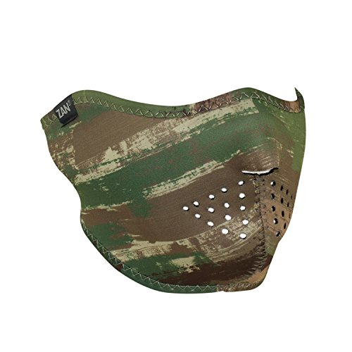ZANheadgear WNFM128H Unisex-Adult Half Mask (Neoprene Multi Brushed Camo)(Multicolor, One Size)