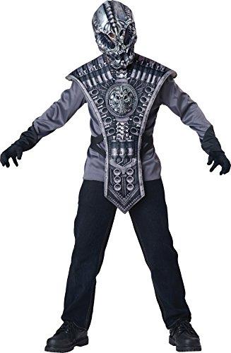 GTH Boy's Alien Warrior Kids Child Fancy Dress Party Halloween Costume, S (Alien Warrior Costumes)