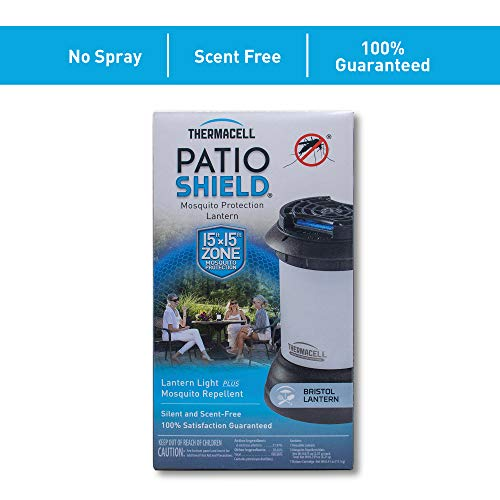 Thermacell Bristol Mosquito Repellent Patio Shield Lantern; Lantern Light Plus Silent, Scent-Free Mosquito Repellent Providing 15-Foot Zone of Protection; 100% Satisfaction Guarantee