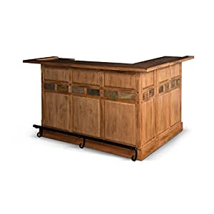 Sunny designs sedona home bar in rustic oak kitchen dining Home bar furniture amazon