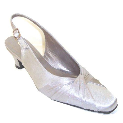 Alida Acabado En 9223 Zapato De Plata Fiesta Especial Ancho PXwOkn08