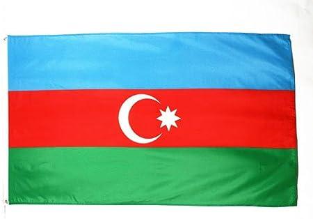 Az Flag Flagge Aserbaidschan 150x90cm Aserbaidschanische Fahne 90 X 150 Cm Flaggen Top Qualitat Amazon De Garten