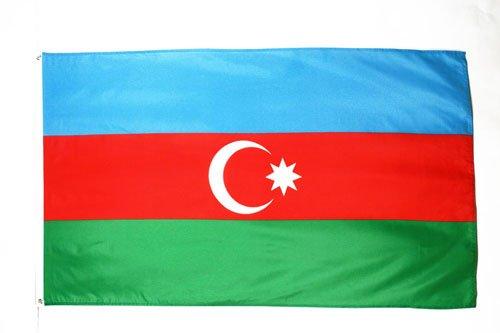 BANDERA de AZERBAIYÁN 150x90cm - BANDERA AZERBAIYANA 90 x 150 cm - AZ FLAG