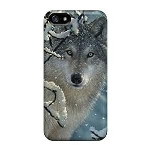 Awesome NKc1724GsBf Wade-cases Defender Tpu Hard Case Cover For Iphone 5/5s- Winter Wolf