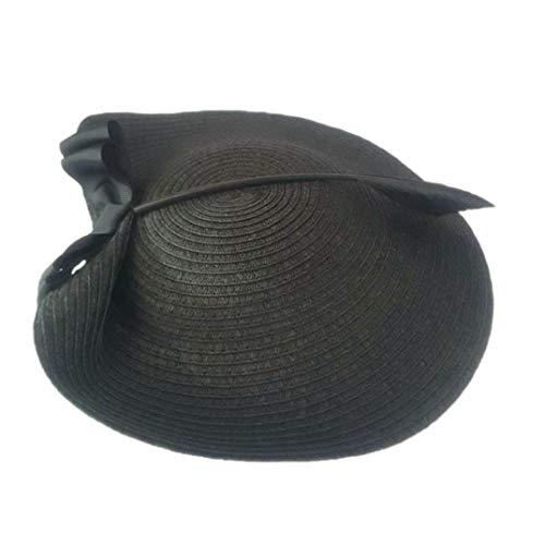 Olado Cóctel Las Elegantes Fortín Sombrero De Beret Ala Para Fieltro Mujeres Sombreros Del Negro Formales Lana Derby rqHOw4r
