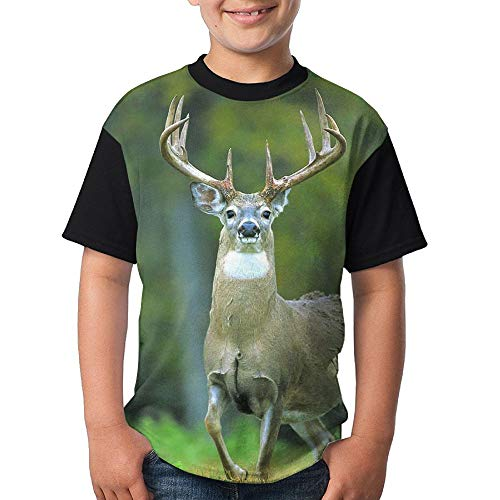 ENGJDHEH Teenager T Shirt Old Deer Teen Short