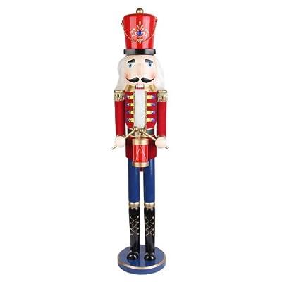36 Inch Red Nutcracker Drummer Soldier