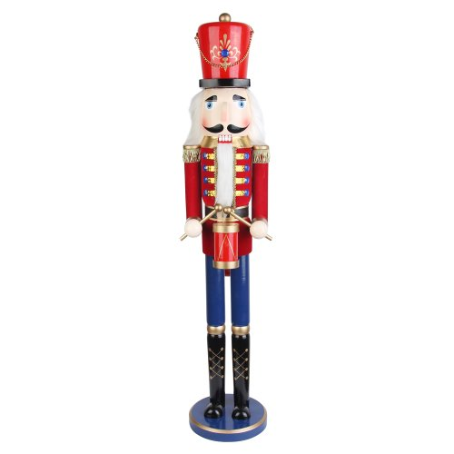 36 Inch Red Nutcracker Drummer Soldier (Drummer Nutcracker)