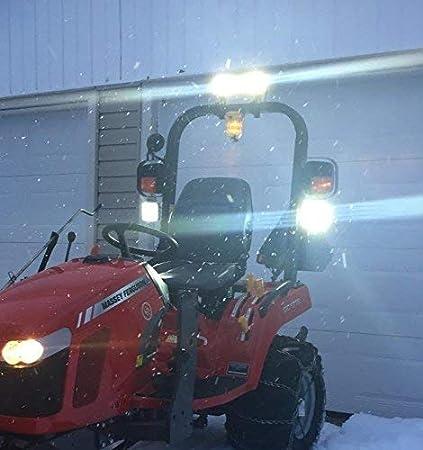 AUXTINGS 10 x 6 inch 18W Flood LED Work Light Bar Off road Trucks SUV 4WD Driving Fog Lights