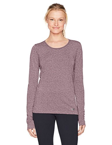 Under Armour Women's Threadborne Seamless Heather Long Sleeve Top, Raisin Red /Metallic Silver, ()