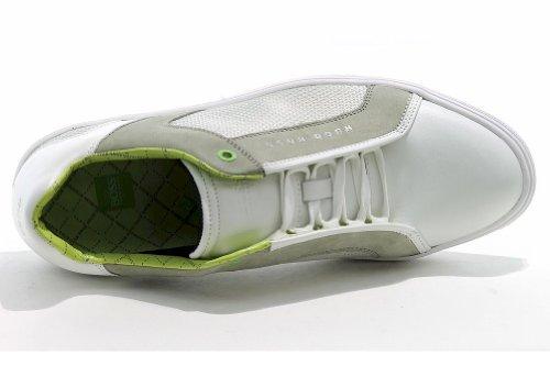Hugo Boss Hombres Fashion Sneakers Attain Zapatos De Cuero 50256499 Blanco