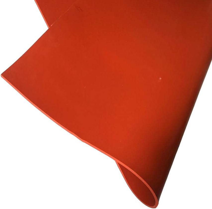 SOFIALXC Plaque en Caoutchouc De Silicone Haute Temp/érature Commerciale Rouge 500x500mm 3mm Thickness