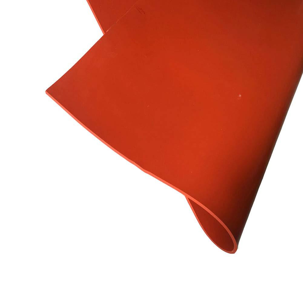 1mm SOFIALXC Plaque en Caoutchouc De Silicone Haute Temp/érature Commerciale Rouge 500x500mm-Thickness