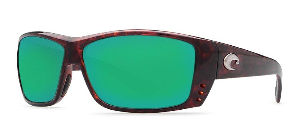 a4e3b7434c Amazon.com  Costa Del Mar Cat Cay 580G Polarized Sunglasses in Tortoise   Green  Mirror Lens  Clothing